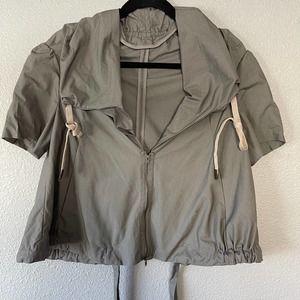 Marni Short Sleeve Cropped Zip Drawstring Jacket